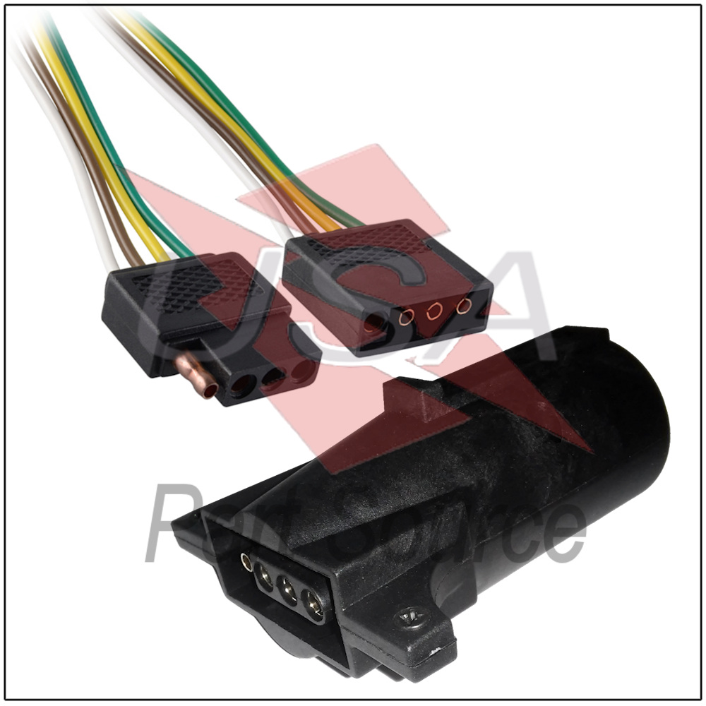 2ft Trailer Light Wiring Harness 4 Pin Flat Plug Wire Connector 24 Your Lights If For Any Reason You Are Not Satisfied With Item Or The Transaction Please Dont Hesitate To Contact Us So We Can Resolve Issues Having
