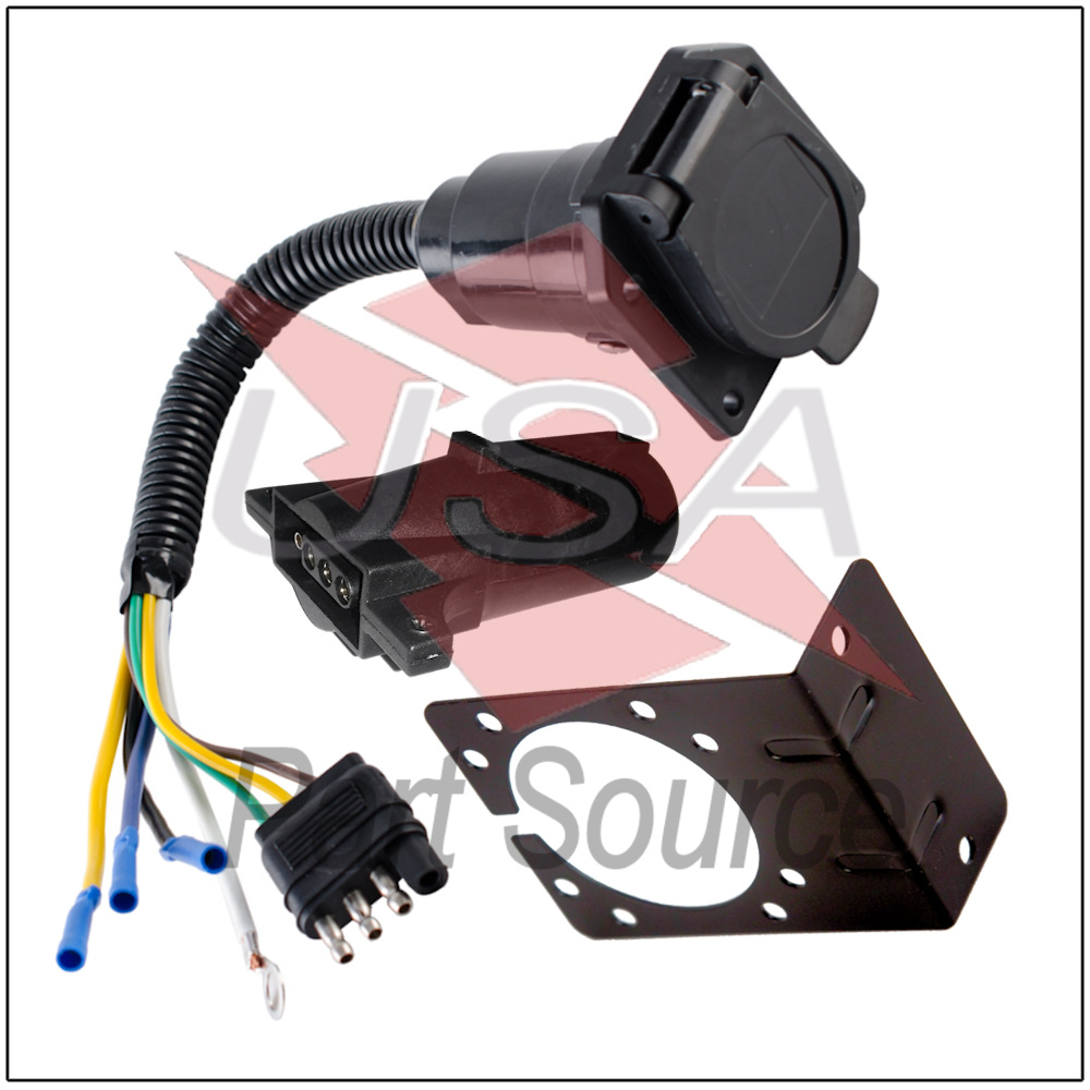 Miraculous 4 Wire Flat To 7 Way Adapter Rv Trailer Wire Harness With Bracket Wiring Digital Resources Almabapapkbiperorg