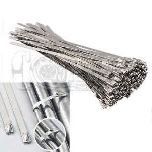 12 inch Stainless Steel Zip Ties High Temp w/ Cover Straps