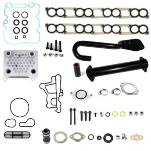 Ford 6.0L Powerstroke Diesel High Flow EGR Delete and Oil Cooler Kit