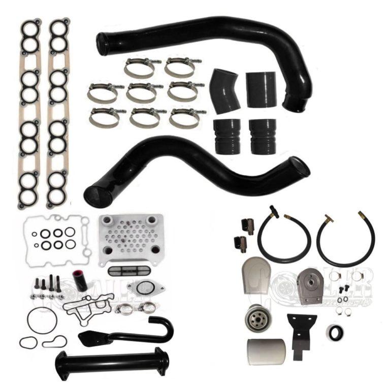 Ford 6.0L Powerstroke EGR Delete Intercooler Pipe Coolant Filter Kit