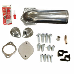 6.4L EGR Valve Cooler Delete Kit Chrome Intake Elbow Ford Powerstroke