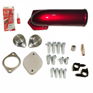 Ford 6.4 Powerstroke Diesel EGR Valve & Cooler Delete Kit Red High Flow Intake Elbow
