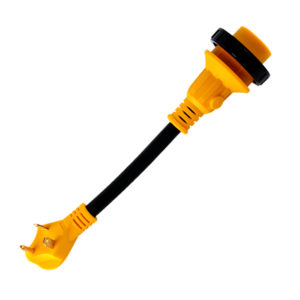 "12"" Dogbone RV Adapter Power Cord 30A Male TT-30 to 30A Twist Lock Female L5-30R"