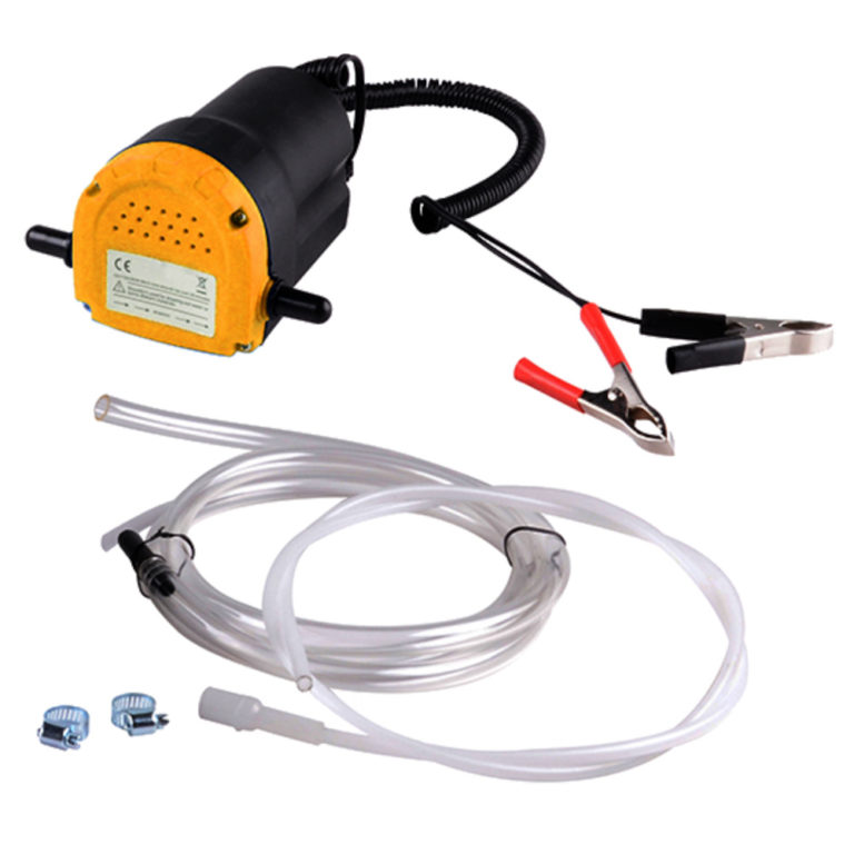 12v Engine Oil Extractor Fluid Transfer Pump with Hose For Motorcycle Truck Boat