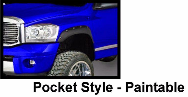 2002 – 2009 Dodge Ram 1500 2500 3500 Pocket Style Riveted Fender Flares