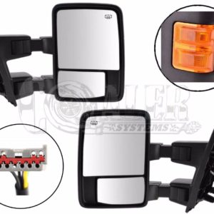 2003 – 2007 Ford F250 F350 F450 Power Heated Tow Mirrors Orange