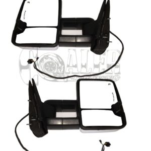2007 – 2014 Chevy Silverado GMC Sierra Power Heated Tow Mirrors LED