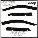 2011 - 2015 Jeep Grand Cherokee Window Deflectors   Front Rear Complete Set
