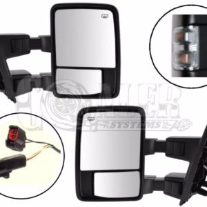 1999 – 2003 Ford F250 F350 F450 F550 Power Heated Tow Mirrors Clear
