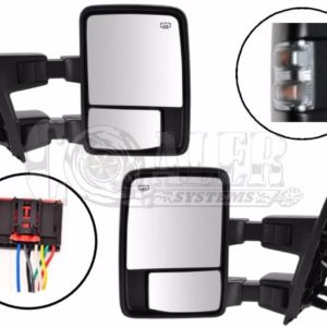 2008 – 2015 Ford F250 F350 F450 F550 Power Heated Tow Mirrors Clear