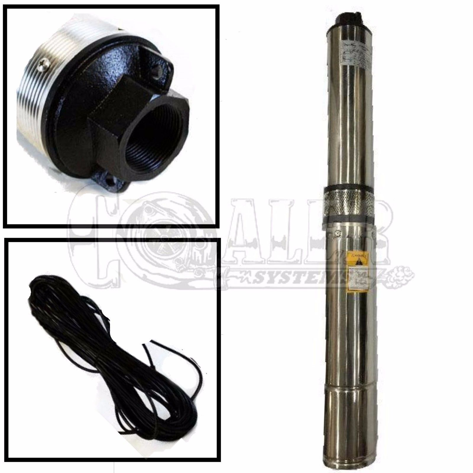4 Inch Deep Well Submersible Pump Max 150 Ft 25 Gpm