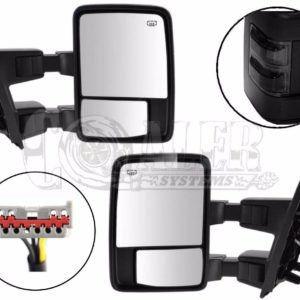 2003 – 2007 Ford F250 F350 F450 F550 Power Heated Tow Mirrors Black