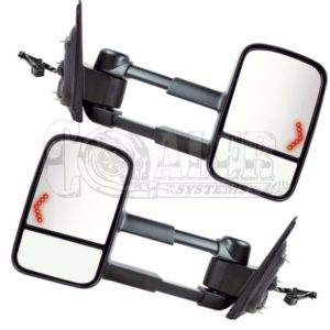 2003 - 2007 Chevy Silverado GMC Sierra Power Heated Tow Mirrors LED