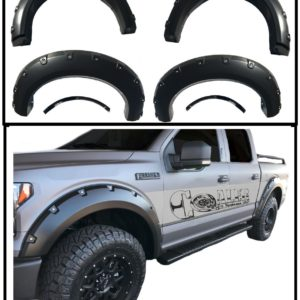 2009 – 2014 Ford F150 Pocket Style Riveted Fender Flares