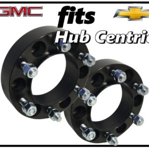 Black 1.5 inch HubCentric Wheel Spacers 6×5.5 | 6 Lug