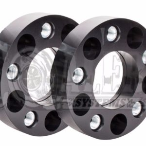 Black 1.5 inch HubCentric Wheel Spacers 5×4.5 (5×114.3) | 5 Lug