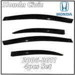2006 - 2011 Honda Civic Sedan Window Deflectors | Front Rear Complete Set