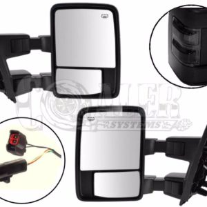 1999 - 2003 Ford F250 F350 F450 F550 Power Heated Tow Mirrors Black