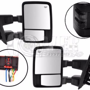 2008 - 2015 Ford F250 F350 F450 F550 Power Heated Tow Mirrors Black