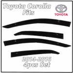 2014 - 2016 Toyota Corolla Window Deflectors | Front Rear Complete Set