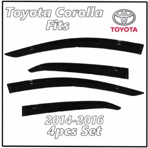 2014 – 2016 Toyota Corolla Window Deflectors | Front Rear Complete Set