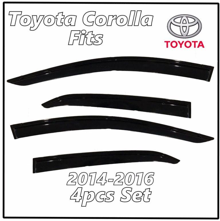2014 – 2016 Toyota Corolla Window Deflectors | Front Rear Complete Set