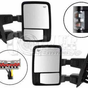 2003 – 2007 Ford F250 F350 F450 Power Heated Tow Mirrors Clear