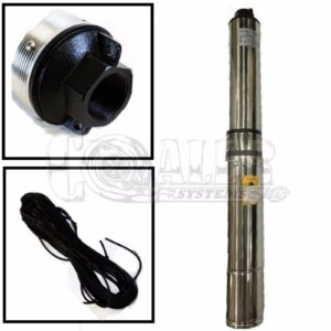 4 inch Deep Well Submersible Pump, Max 133 ft | 18.5 GPM – 1 HP – 110V
