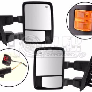 2003 - 2007 Ford F250 F350 F450 F550 Power Heated Tow Mirrors Orange